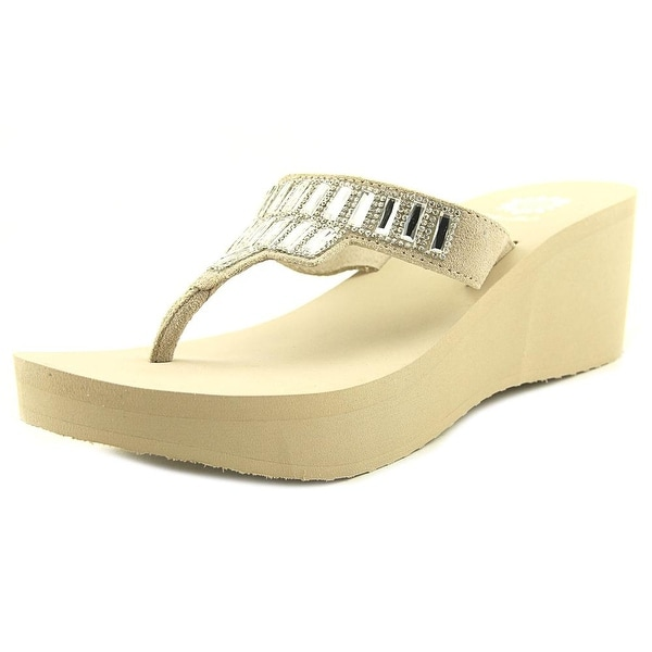 Yellow Box Alexandria Women Open Toe Suede Wedge Sandal