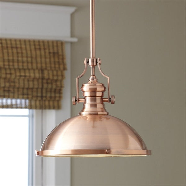 Copper 1-Light Dome Pendant Lighting with Diffuser - Free Shipping ...