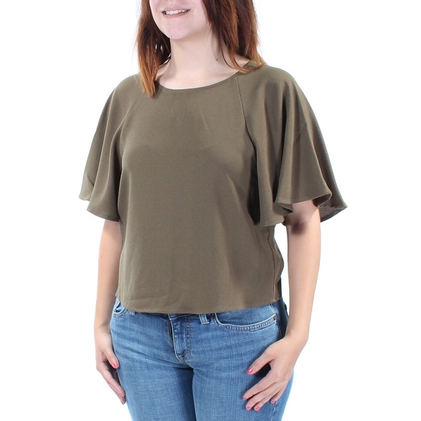 23620e3a9ae Shop Womens Green Kimono Sleeve Jewel Neck Top Size S - On Sale - Free  Shipping On Orders Over $45 - Overstock.com - 21309698