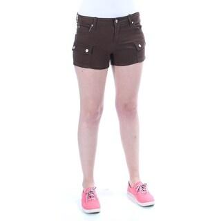 CELEBRITY PINK Womens New 1197 Brown Cropped Casual Short Juniors Juniors 5 B+B