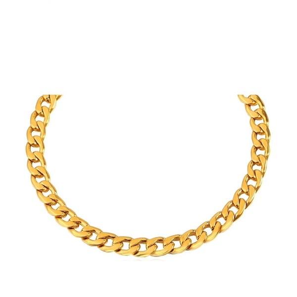 Mcs Jewelry Inc 14 KARAT YELLOW GOLD LIGHT CURB CUBAN NECKLACE (5.7MM)