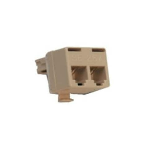 Suttle 267A4 2 For 1 Adapter Connect 2 Telephones / Equipment To Modular Jack - Multicolor
