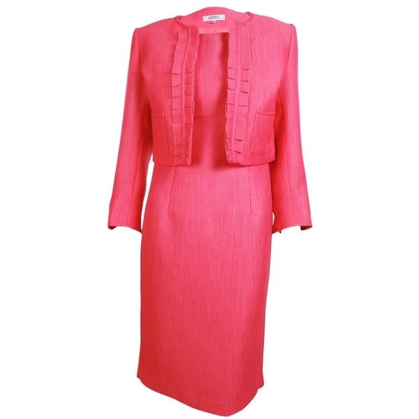 Shop Kasper Women S Business Suit Dress Set Coral Rose Free