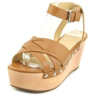 Marc Fisher Camilla   Open Toe Leather  Wedge Heel