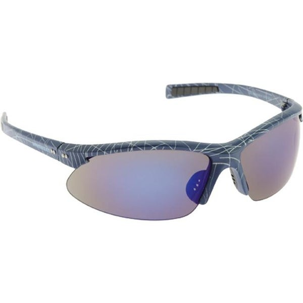 503845eb609 Shop Unionbay Men s U700 Semi-Rimless Wrap Sunglasses Blue Print Blue Flash  - US Men s One Size (Size None) - Free Shipping On Orders Over  45 -  Overstock - ...