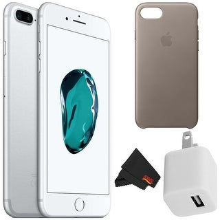 Apple iPhone 7 256GB - Silver Unlocked with Accessory Kit taupe case