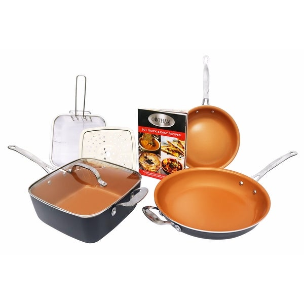 Gotham Steel Pantastic Bundle 6 Piece Set Titanium Ceramic Pan - Copper -