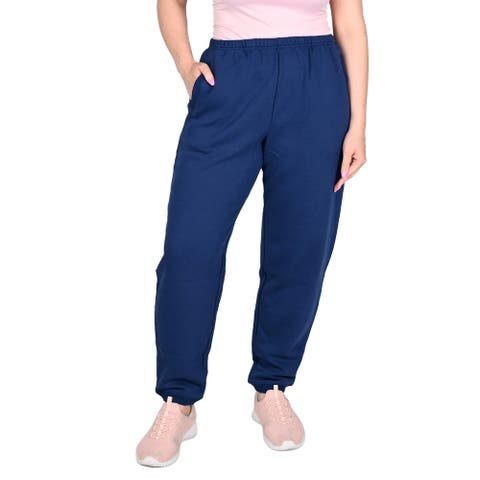 Shop LC Indigo Relaxed Fit Mid Rise Fleece Pant Cotton Polyester- L