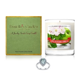 Apple Blossom and Vanilla Jewelry Candle, Ring Size 9