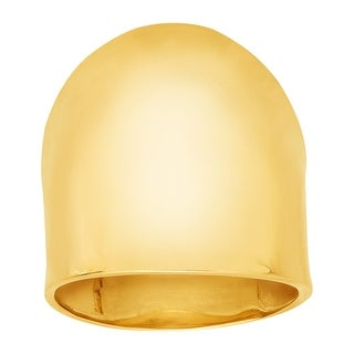 Just Gold Large Dome Ring in 14K Gold - Yellow