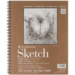 "100 Sheets - Strathmore Sketch Spiral Paper Pad 9""X12"""