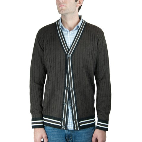 Men's Cable Cardigan Sweater (SW-555)