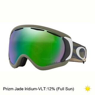 Oakley Canopy Ski Goggles - burned out gunmetal/hi yellow