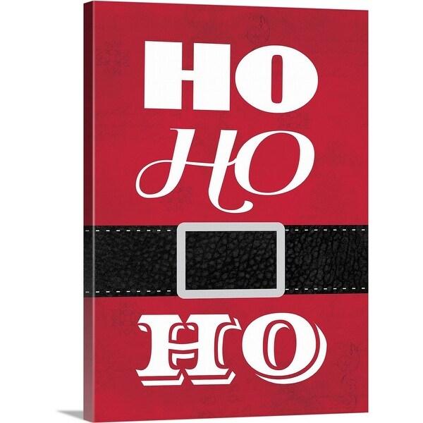 """""""Ho Ho Ho"""" Canvas Wall Art"""