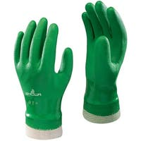 Showa 600S-07.RT Atlas 600 Dipped PVC Work Gloves, Small, Green