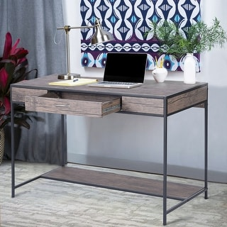 Link to Carbon Loft Searz Rustic 1-Drawer Computer Writing Desk Similar Items in Desks & Computer Tables