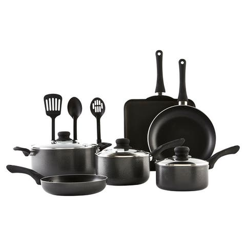 IMUSA IMU-25068SET 12-Piece Cookware Set, Charcoal - 12 Piece
