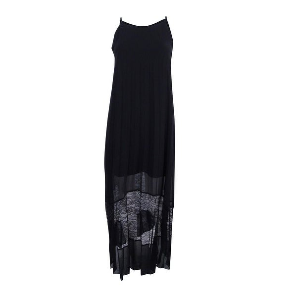 3fc8ef72a27 Shop BCBGeneration Women s Pleated Lace Maxi Dress - On Sale - Free ...