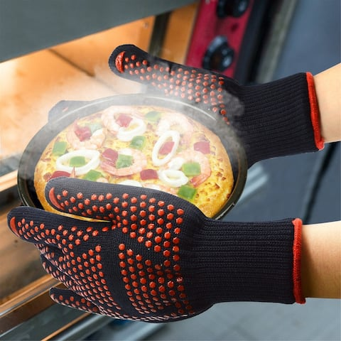 NewAge BBQ Grill Gloves 932F Extreme Heat Resistant Oven Gloves Color Opt