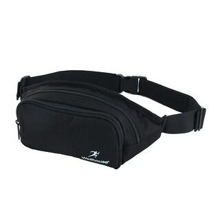 Wellhouse Authorized Running Keys Holder Adjustable Belt Sports Waist Bag Black