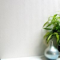 Brewster 437-RD80103 Herringbone Paintable Anaglypta Pro Wallpaper - N/A