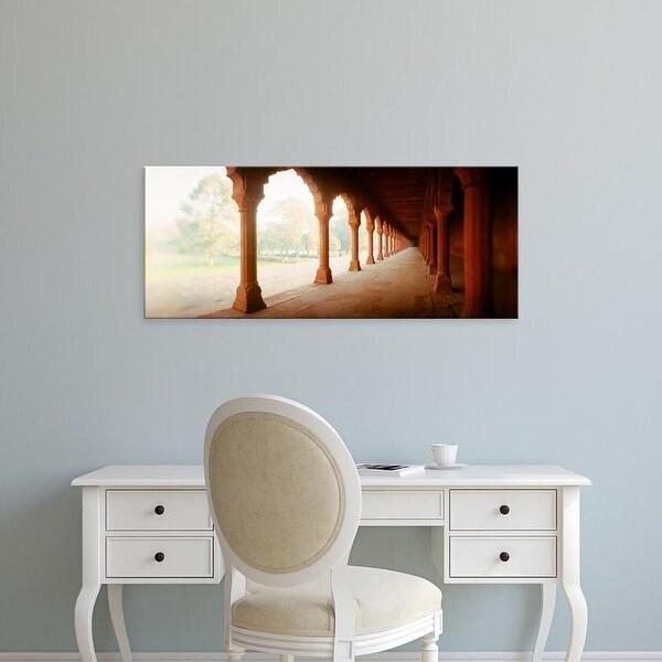 Easy Art Prints Panoramic Images's 'Corridor of a fort, Agra Fort, Agra, Uttar Pradesh, India' Premium Canvas Art