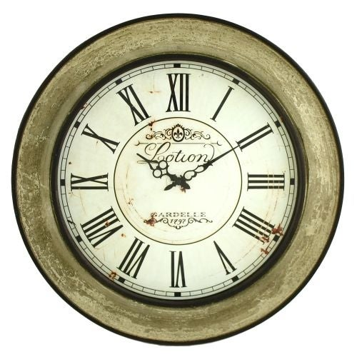 Aspire Home Accents 5985 Avery Round Wall Clock - Multi - N/A