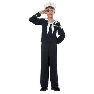 Kids Navy Sailor Uniform Halloween Costume