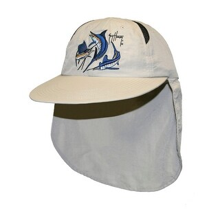 Guy Harvey Unisex-Adult Grand Slam Guide Ball Cap One Size Natural