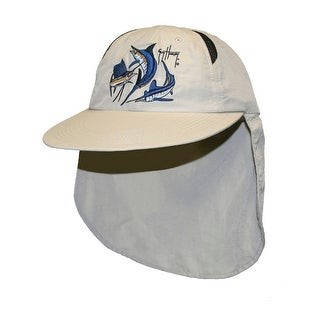 Guy Harvey Unisex-Adult Grand Slam Guide Ball Cap One Size Natural - One size