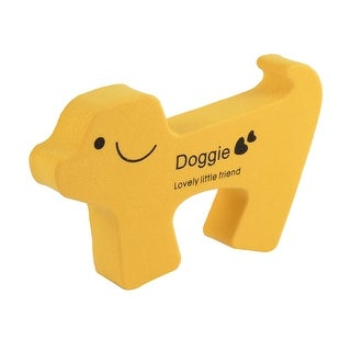Cartoon Dog Shape Finger Protector Door Stopper Safety Guard Yellow