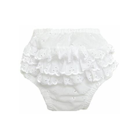 Bambini Baby Girl's Cotton/Poly Ruffled Fancy Pants Underwear