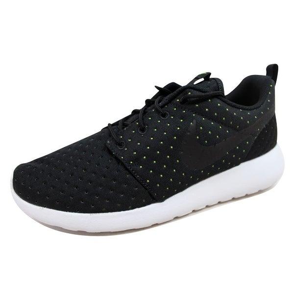 Nike Men's Roshe One 1 SE Black/Black-Volt 844687-001