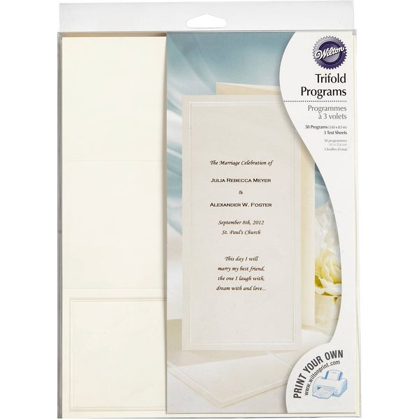 Wilton Keeping Tradition Trifold Program Wedding Supply Entertainment Invitation Free Shipping On Orders Over 45 18735542
