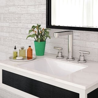 """DecoLav 1409 Amabella 17-1/2"""" Rectangular Undermount Vitreous China Lavatory Sink with Overflow - Ceramic White - N/A"""
