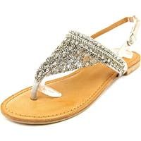 Not Rated Jewels Women  Open-Toe Synthetic Silver Slingback Sandal