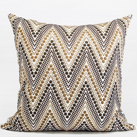 "G Home Collection Luxury Metallic Big Chevron Embroidered Pillow 20""X20"""