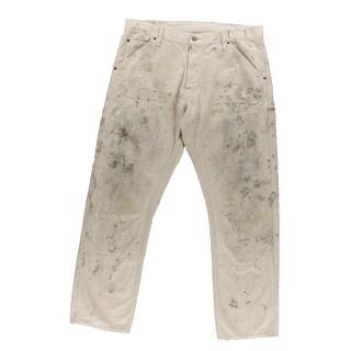 Denim & Supply Ralph Lauren Mens Carpenter Jeans Paint Wash Straight - 38/32