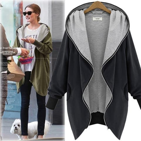 Knit Cable Open Front Loose Cardigan Sweater