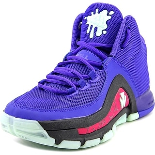 Adidas J Wall 2 J Youth Round Toe Synthetic Purple Basketball Shoe
