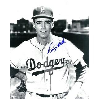 Danny McDevitt signed Brooklyn Dodgers B&W 8x10 Photo (deceased)