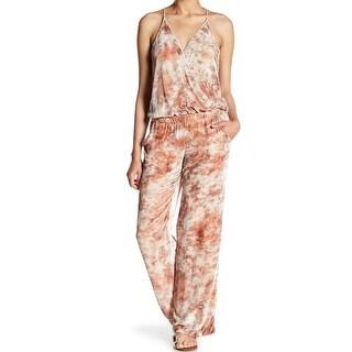 Young Fabulous & Broke NEW Beige Womens Size Large L Velvet Jumpsuit