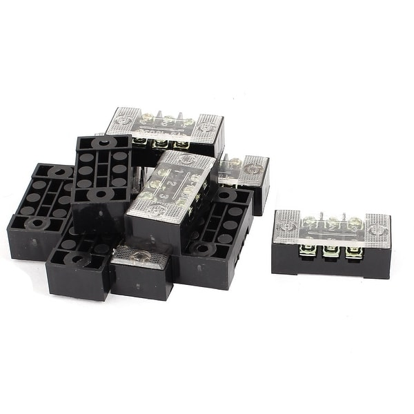 Terminal Blocks 10Pcs 600V 15A 10P Double Row Electric Barrier