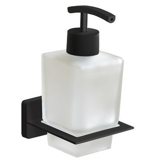 Nameeks NCB62  General Hotel Wall Mounted Glass Soap Dispenser - Matte Black
