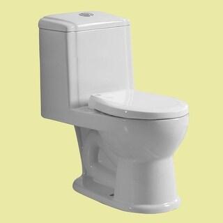Child's Small White Toilet Ceramic Round Push Button Dual Flush