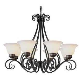 Trans Globe Lighting 6398-1 8 Light Up Lighting Chandelier from the New Century Collection