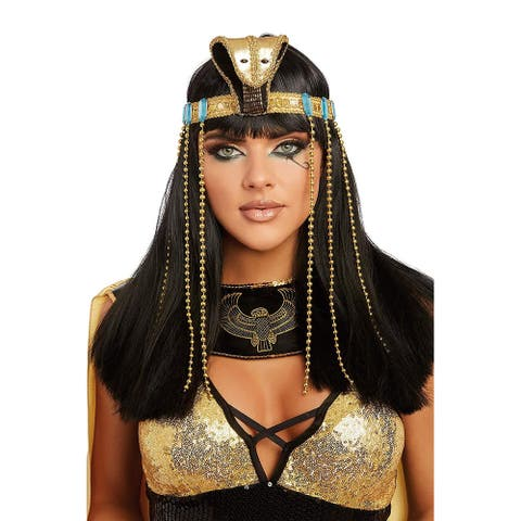 Cleopatra Adult Costume Headpiece One Size - Gold