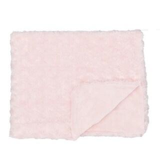 Rose Textile 1792 Curly Plush Blanket, Pink