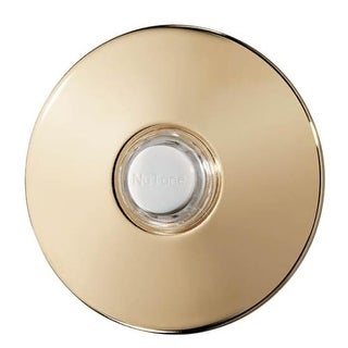 NuTone SPB41L Lighted Round Stucco Pushbutton