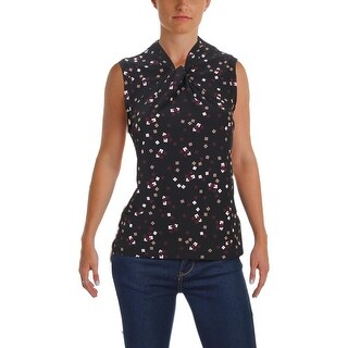 Tommy Hilfiger Womens Casual Top Sleeveless Printed